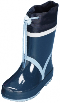 "Sale:Kinder Gummistiefel ""Basic"" von Playshoes in Marine/Hellblau"