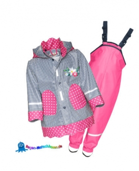 "Kinder Regenanzug im Landhausstil ""Sweety"" in Blau/Pink von Playshoes"
