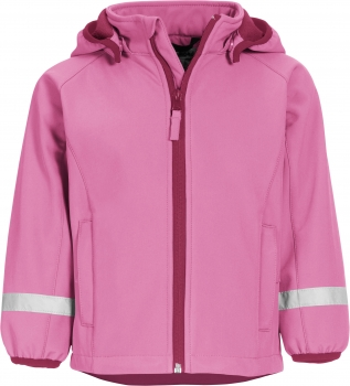 Kinder Softshelljacke  in Rosa Unifarben