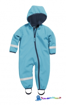 Baby Softshell-Overall von Playshoes in Aquablau