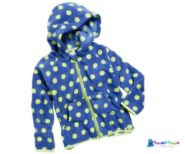 Fleecejacke Kinder in blau/hellgrün gepunktet von Playshoes