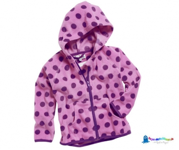 Fleecejacke Kinder in rosa/lila gepunktet von Playshoes