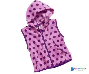 Fleecejacke Kinder in Pink/Lila gepunktet von Playshoes