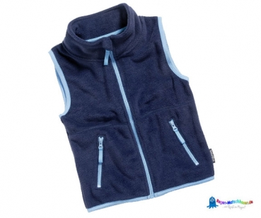 Fleeceweste Kinder in Marine/Hellblau von Playshoes