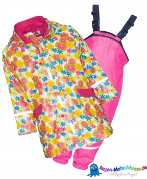 "Playshoes  Baby Regenanzug im Design ""Flower"" Blumen Alloverdruck"