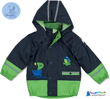 Sterntaler Kinder Regenjacke -3 in 1 Multifunktionsjacke, warm mit separater Fleecejacke gefüttert -Pirat-