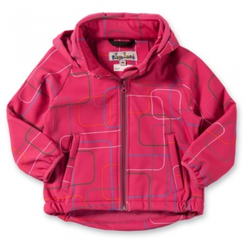Softshelljacke Kinder in Pink mit Muster