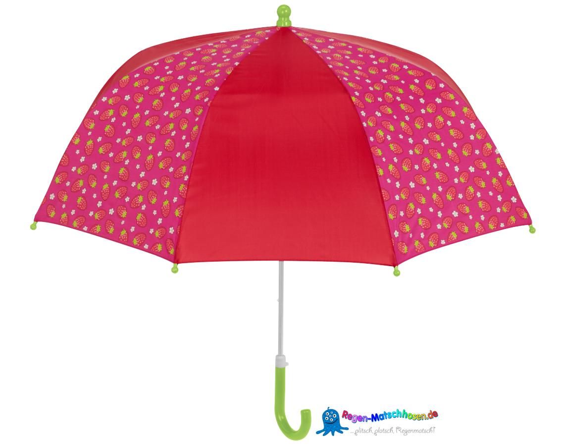 mädchen regenschirm mit erdbeeren print