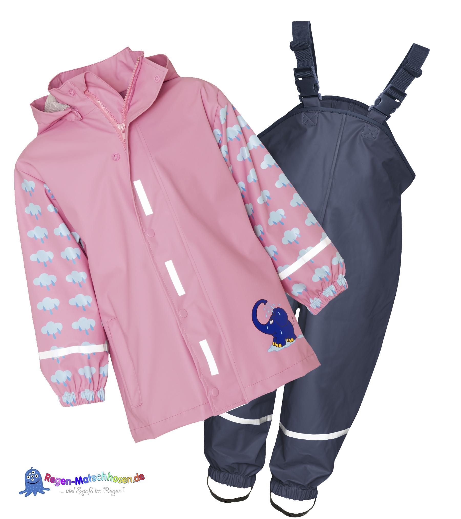 Verkauf Einzelhändler bd170 38e80 Baby Regenanzug  Elefant & Maus Design von Playshoes in Rosa ...