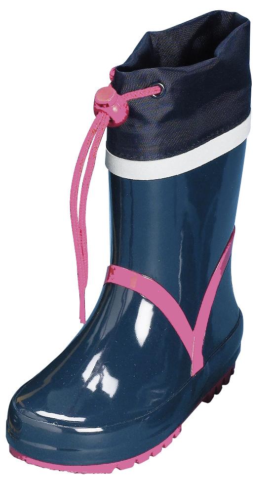 kinder gummistiefel basic von playshoes in marine pink. Black Bedroom Furniture Sets. Home Design Ideas