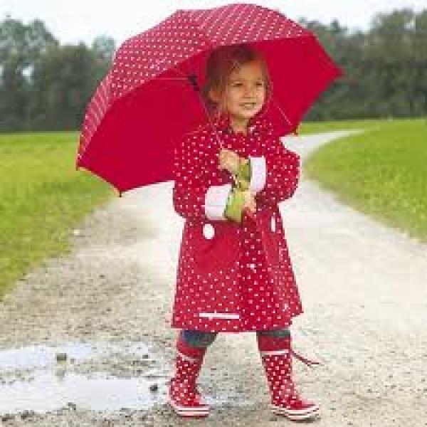 d22769c4a2 Kinder Regenjacke   Mädchen mit tollen Punkten  Sommer